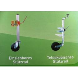 Teleskopisches Stützrad